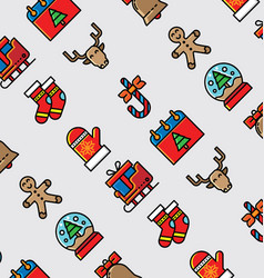 christmast icon pattern2 vector image