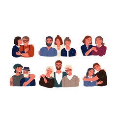 collection of children or grandchildren with vector image