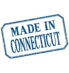 Connecticut - made in blue vintage isolated label vector