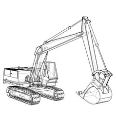 Construction machine vehicle excavator eps10 vector