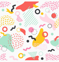 Creative seamless pattern with colorful stains vector
