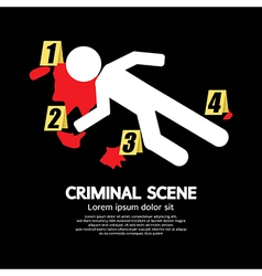 Criminal Scene vector image