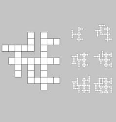 Crossword empty set vector