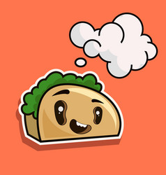 cute toast bread cartoon character isolated on vector image