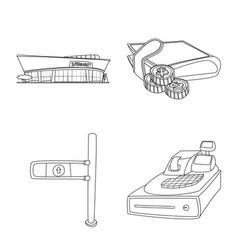 design food and drink symbol set of vector image