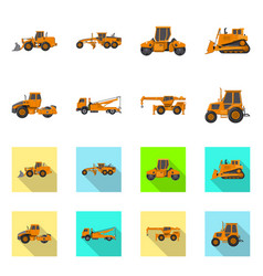 Design of build and construction logo set vector