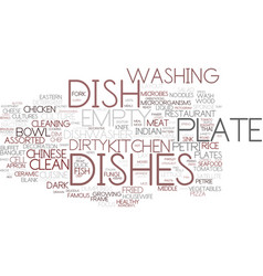 dishes word cloud concept vector image