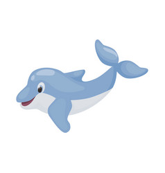 dolphin jumping character vector image