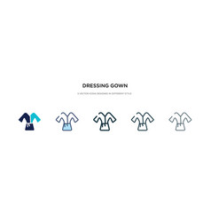 dressing gown icon in different style two vector image