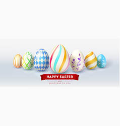 festive design for easter greetings cards vector image