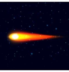 Fiery comet vector image