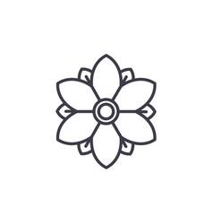 floral flower line icon concept floral flower vector image