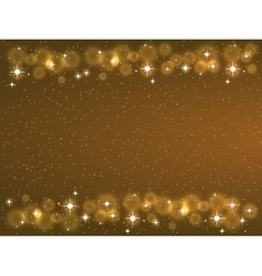 Frame with stars on the dark background sparkles vector image