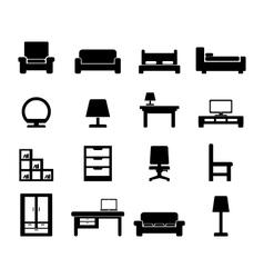 Furniture icon vector
