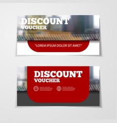 Gift or discount voucher template vector
