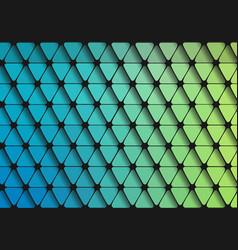 green-blue grait of flat geometric triangle vector image