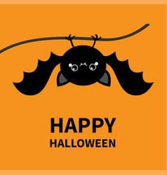 Happy halloween hanging cute cartoon kawaii vector