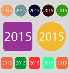 Happy new year 2015 sign icon Calendar date 12 vector