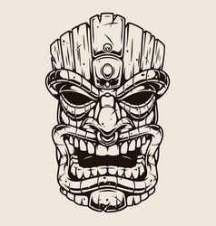 Hawaiian tiki mask vintage concept vector