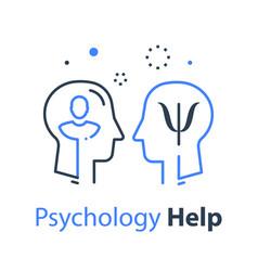 Human head profile psychology professional vector