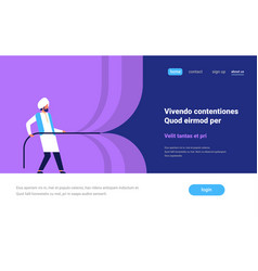 Indian man pull rope ready to start concept grand vector