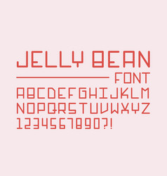 jelly bean font alphabet vector image