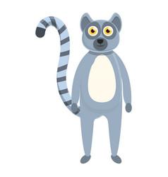 Lemur baicon cartoon style vector