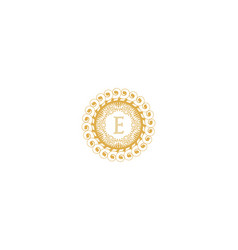 Letter e initial logo for wedding boutique luxury vector
