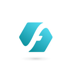 letter f technology logo icon design template vector image