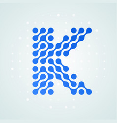 letter k logo halftone icon vector image