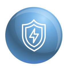 light shield icon outline style vector image