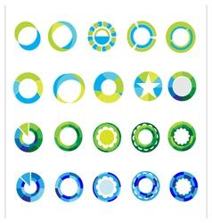 Logo templates set abstract circle signs vector