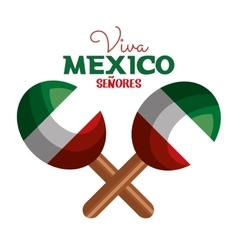 Maracas flag mexico icon design vector