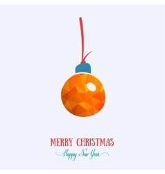 Merry Christmas card creative decoration Happy vector