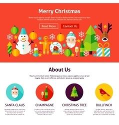 Merry Christmas Website Design vector