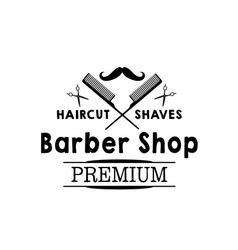 mustaches icon of hipster beard barber shop vector image