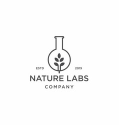 Nature leaf labs logo icon vector