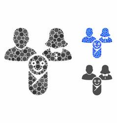 Newborn composition icon circle dots vector