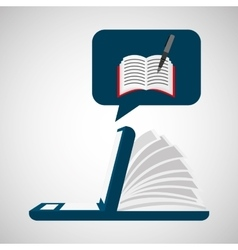 Online learning writing education vector