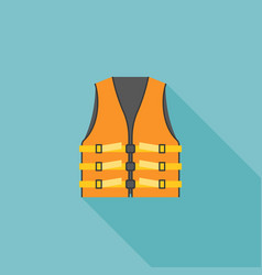 Orange adult life vest jacket vector