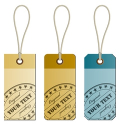 Original cardboard tags vector