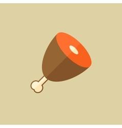 Prosciutto food flat icon vector