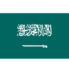 Saudi Arabian flag vector