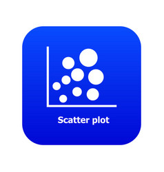Scatter plot icon blue vector