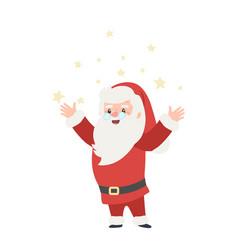 set christmas santa claus merry vector image