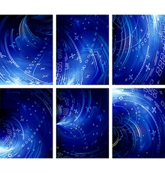 Set of abstract compositions vector image