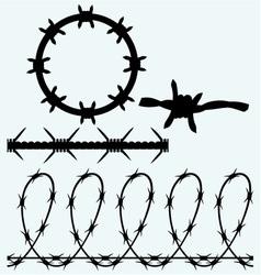 set symbol barbed wire vector image