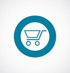 Shopping cart icon bold blue circle border vector