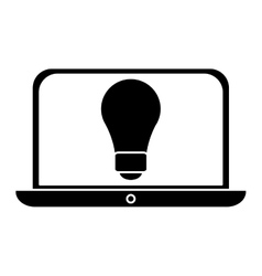 silhouette idea laptop technology vector image