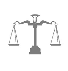 silhouette of scales of justice balance vector image